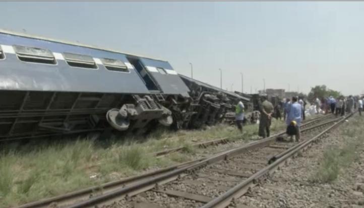 Accidente ferroviario en Egipto provoca la muerte de cinco personas