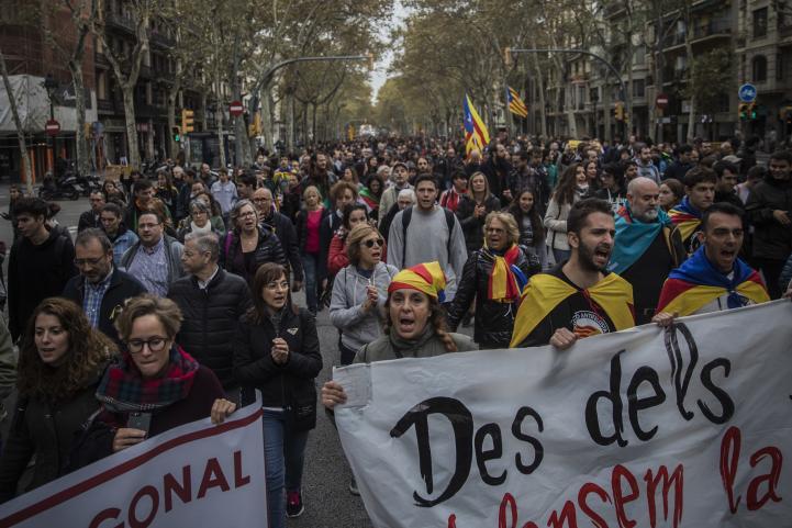 Jornada de protestas en Cataluña