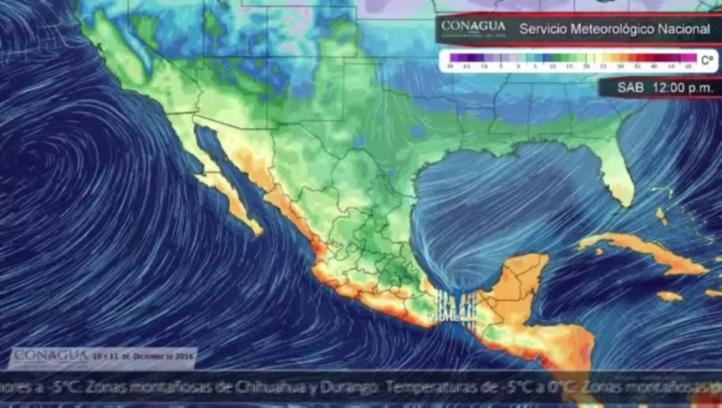 Pronóstico del tiempo para el 10 y 11 de diciembre