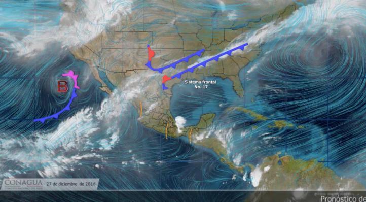 Pronóstico del tiempo para el 27 de diciembre