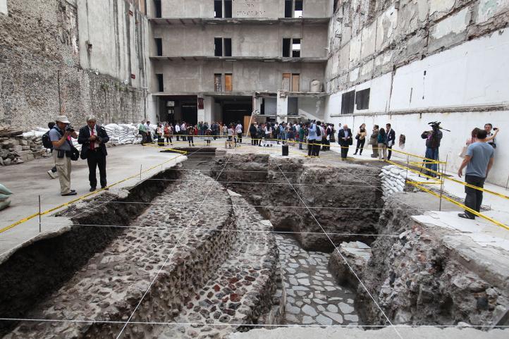 El templo mexica que apareció en el predio de un hotel