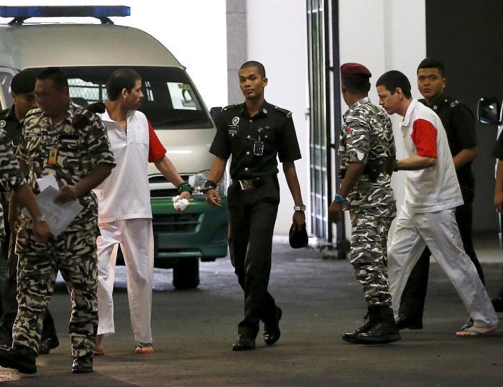 Malasia ratifica pena de muerte contra tres mexicanos