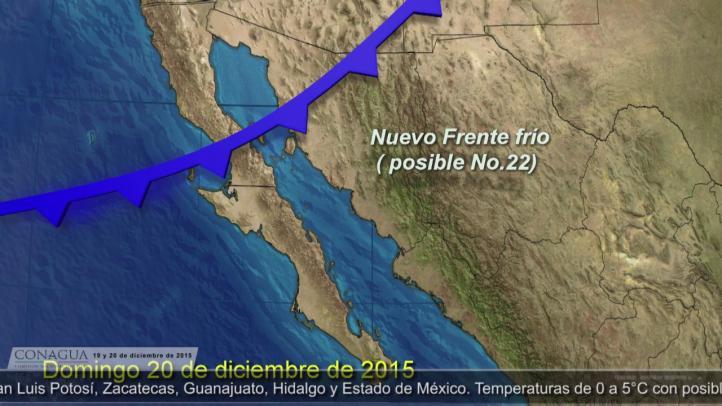 Pronóstico del tiempo para los días 19 y 20 de diciembre