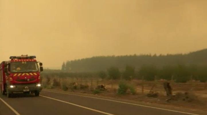 Se multiplican los incendios forestales en Chile