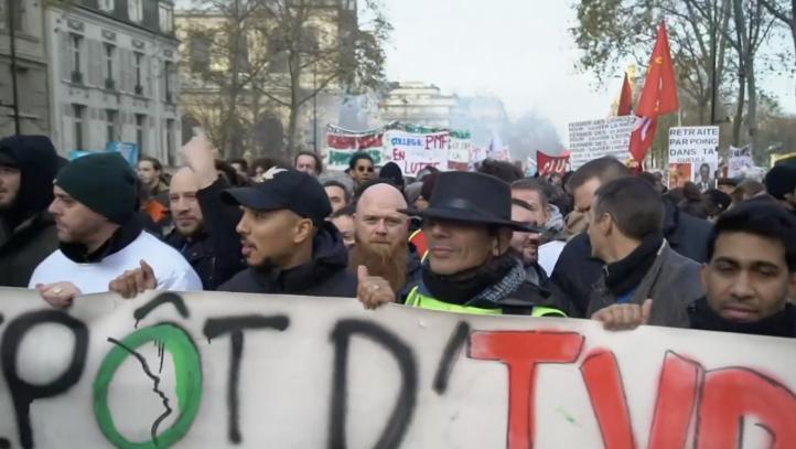 Protestas por pensiones se expanden en Francia