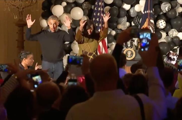 Los Obama bailan Thriller