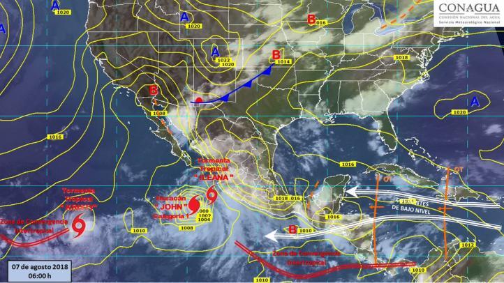Pronóstico del Tiempo para el 7 de agosto de 2018