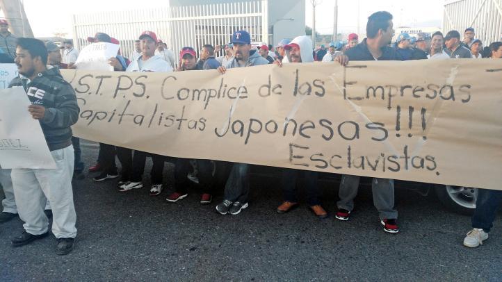 Trabajadores de compañía japonesa protestan en Zacatecas