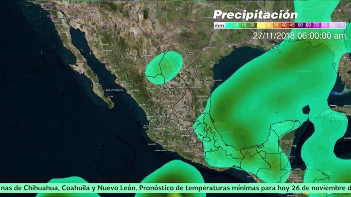 Pronóstico del tiempo para el 26 de noviembre