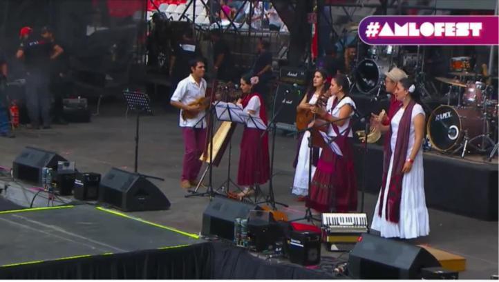 Caña Dulce Caña Brava en el AMLO Fest