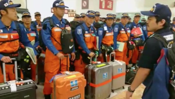 Llegan rescatistas japoneses a la Ciudad de México