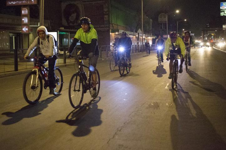 Rodadas nocturnas en la Ciudad de México.