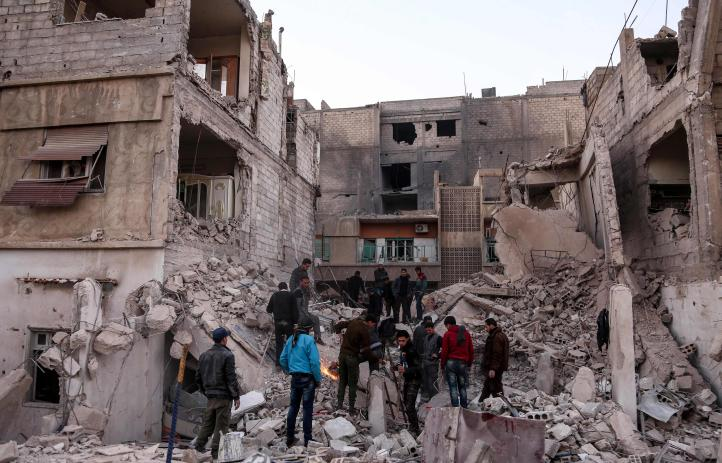 Siria y Rusia intensifican los ataques contra rebeldes