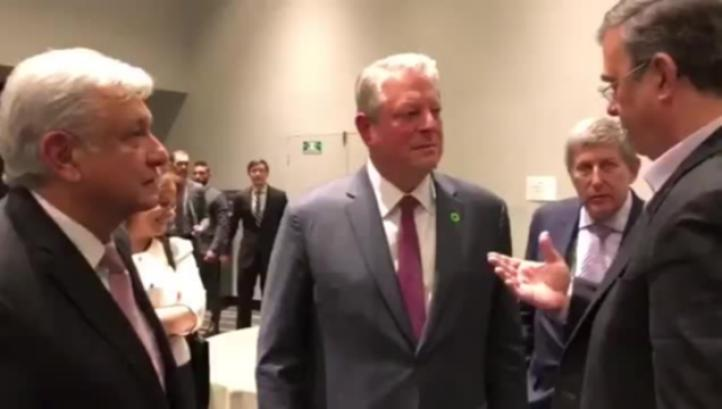 Se reúne AMLO con Al Gore, ex vicepresidente de EU