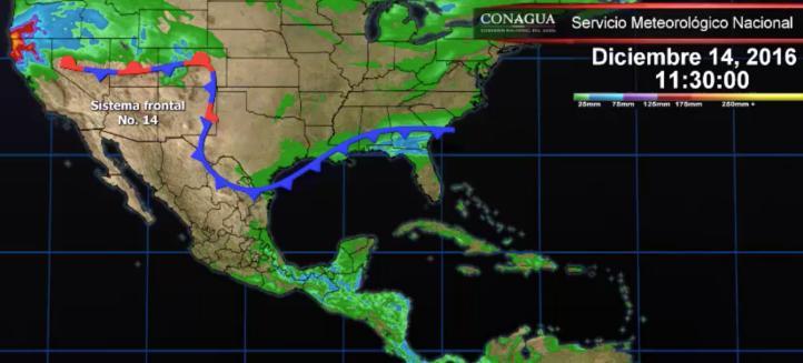 Pronóstico del tiempo para el 14 de diciembre